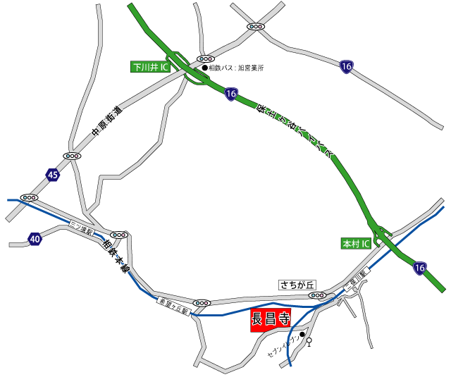 長昌寺会館アクセス地図